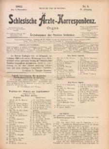 Schlesische Ärzte-Korrespondenz, 1905/1906, Jg. 9, No 5