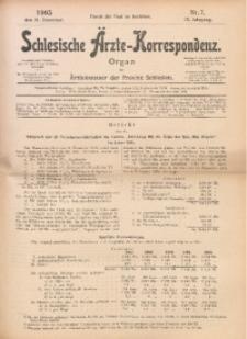Schlesische Ärzte-Korrespondenz, 1905/1906, Jg. 9, No 7