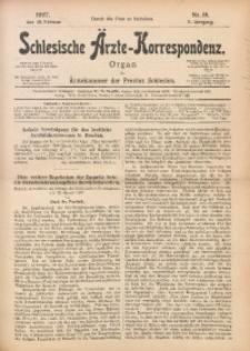 Schlesische Ärzte-Korrespondenz, 1906/1907, Jg. 10, No 10