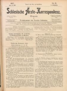 Schlesische Ärzte-Korrespondenz, 1906/1907, Jg. 10, No 21