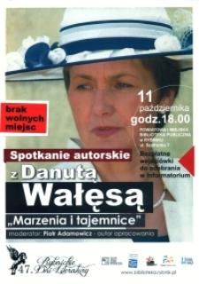 Afisz. Spotkanie autorskie z Danutą Wałęsą