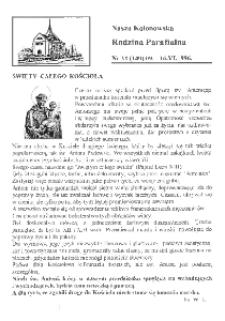 Nasza Kolonowska Rodzina Parafialna 1996, nr 22 (140).