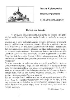 Nasza Kolonowska Rodzina Parafialna 1997, nr 38 (207).