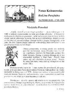 Nasza Kolonowska Rodzina Parafialna 1998, nr 19 (240).