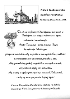 Nasza Kolonowska Rodzina Parafialna 1998, nr 52 (272) [273].