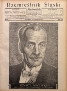 Rzemieślnik Śląski, 1929, R. 1, Nr. 10