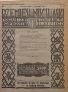 Rzemieślnik Śląski, 1930, R. 2, Nr. 1