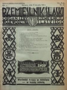 Rzemieślnik Śląski, 1930, R. 2, Nr. 2