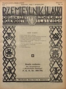 Rzemieślnik Śląski, 1931, R. 3, Nr. 14