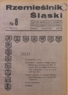 Rzemieślnik Śląski, 1947, R. 9, Nr. 8