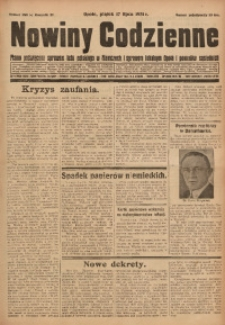 Nowiny Codzienne, 1931, R. 21, nr 160