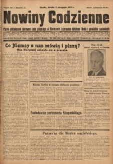 Nowiny Codzienne, 1931, R. 21, nr 176