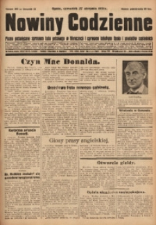 Nowiny Codzienne, 1931, R. 21, nr 195