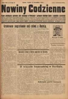 Nowiny Codzienne, 1931, R. 21, nr 206