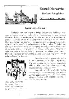 Nasza Kolonowska Rodzina Parafialna 1999, nr 5 (277).