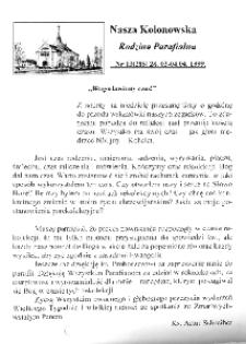 Nasza Kolonowska Rodzina Parafialna 1999, nr 13 (285).