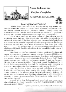 Nasza Kolonowska Rodzina Parafialna 1999, nr 25 (297).