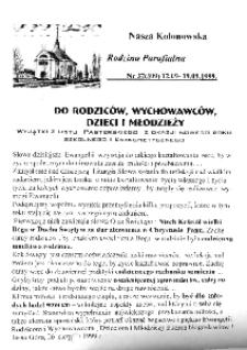 Nasza Kolonowska Rodzina Parafialna 1999, nr 37 (309).