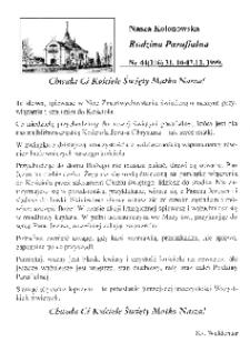 Nasza Kolonowska Rodzina Parafialna 1999, nr 44 (316).