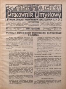 Pracownik Umysłowy, 1935, R. 16, Nr. 12