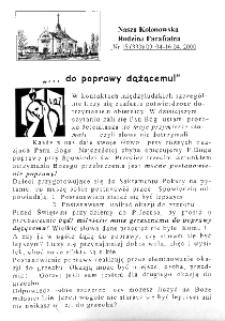 Nasza Kolonowska Rodzina Parafialna 2000, nr 15 (339).