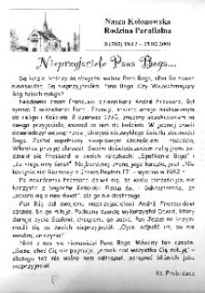 Nasza Kolonowska Rodzina Parafialna 2001, nr 8 (385) [384].