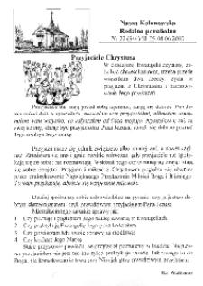 Nasza Kolonowska Rodzina Parafialna 2000, nr 22 (346).
