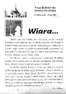 Nasza Kolonowska Rodzina Parafialna 2001, nr 17 (394) [393].