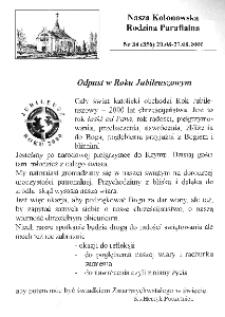 Nasza Kolonowska Rodzina Parafialna 2000, nr 34 (356) [358].