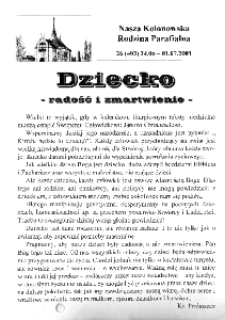 Nasza Kolonowska Rodzina Parafialna 2001, nr 26 (403) [402].