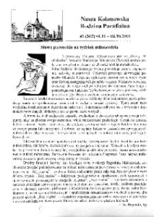 Nasza Kolonowska Rodzina Parafialna 2000, nr 40 (362) [364].