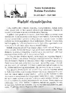 Nasza Kolonowska Rodzina Parafialna 2001, nr 28 (405) [404].
