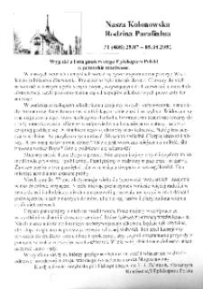 Nasza Kolonowska Rodzina Parafialna 2001, nr 31 (408) [407].