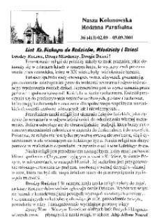 Nasza Kolonowska Rodzina Parafialna 2001, nr 36 (413) [412].
