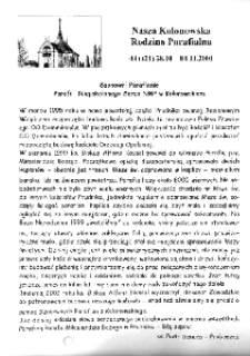 Nasza Kolonowska Rodzina Parafialna 2001, nr 44 (421) [420].