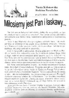Nasza Kolonowska Rodzina Parafialna 2001, nr 45 (422) [421].