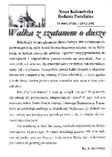 Nasza Kolonowska Rodzina Parafialna 2002, nr 11 (441).