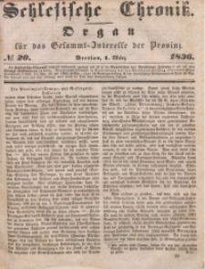 Schlesische Chronik, 1836, Jg. 1, No. 20