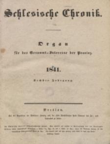 Inhalts-Verzeichniss der Schlesischen Chronik im Jahre 1841