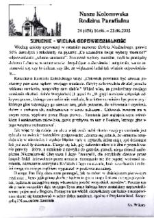 Nasza Kolonowska Rodzina Parafialna 2002, nr 24 (454).