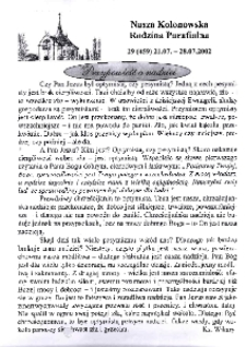 Nasza Kolonowska Rodzina Parafialna 2002, nr 29 (459).