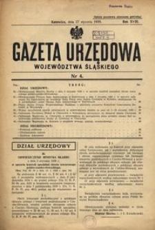 Gazeta Urzędowa Województwa Śląskiego, 1939, R. 18, nr 4