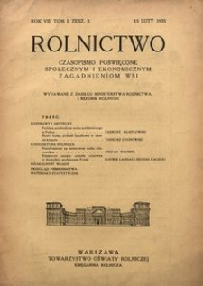 Rolnictwo, 1935, R. 7, T. 1, z. 2