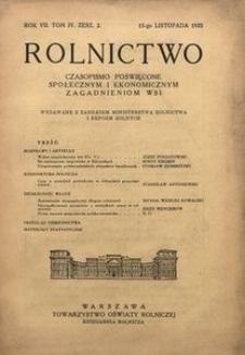 Rolnictwo, 1935, R. 7, T. 4, z. 2