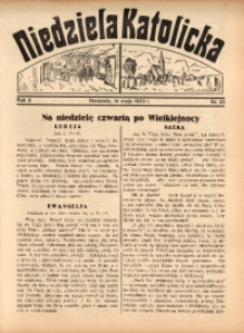 Niedziela Katolicka, 1933, R. 2, Nr. 20