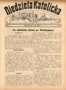 Niedziela Katolicka, 1933, R. 2, Nr. 22