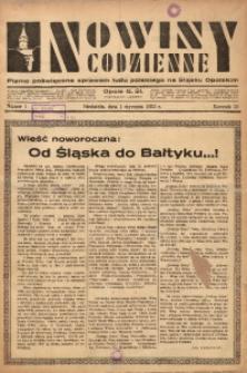 Nowiny Codzienne, 1933, R. 23, nr 1