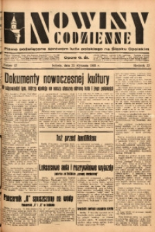 Nowiny Codzienne, 1933, R. 23, nr 17