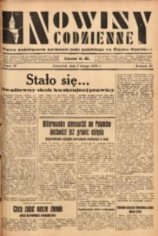 Nowiny Codzienne, 1933, R. 23, nr 27