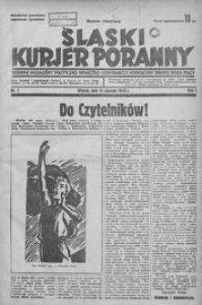 Śląski Kurjer Poranny, 1935, R. 1, nr 1 okazowy